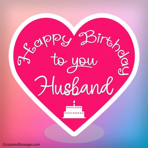Happy birthday Husband with big heart