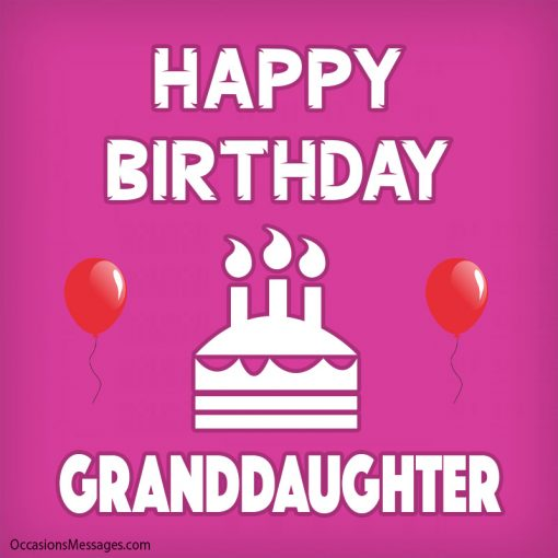 Happy birthday granddaughter with balloon