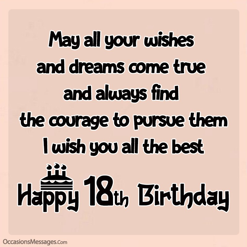 Amazing 18th Birthday Wishes Happy 18th Birthday Messages