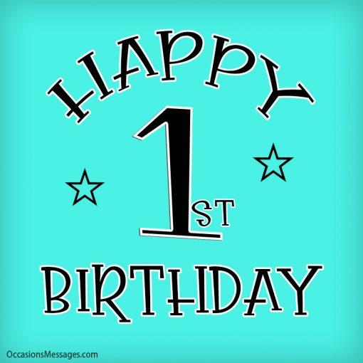 Happy 1st birthday to you
