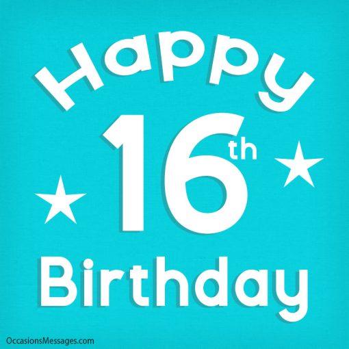 Happy 16th Birthday with stars
