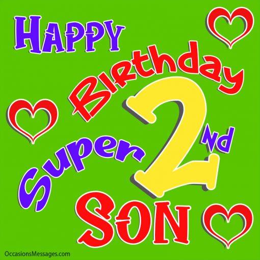 Happy 2nd birthday super son