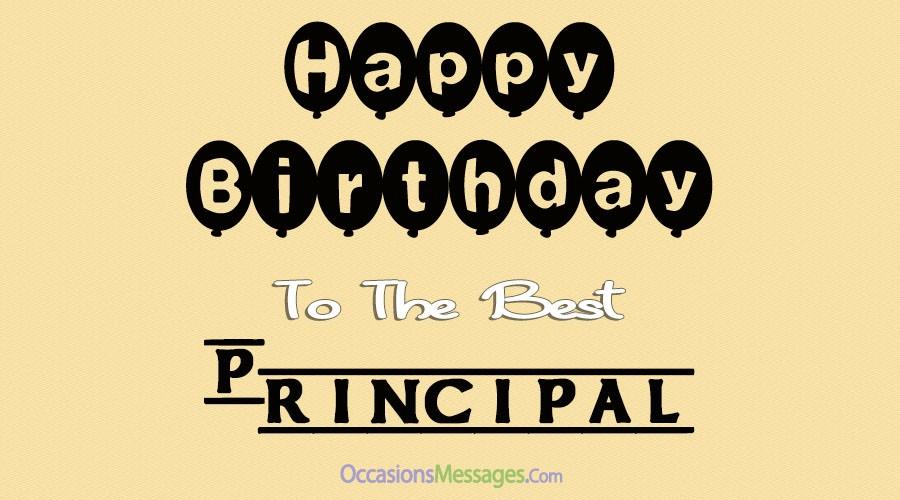 Happy birthday best principal