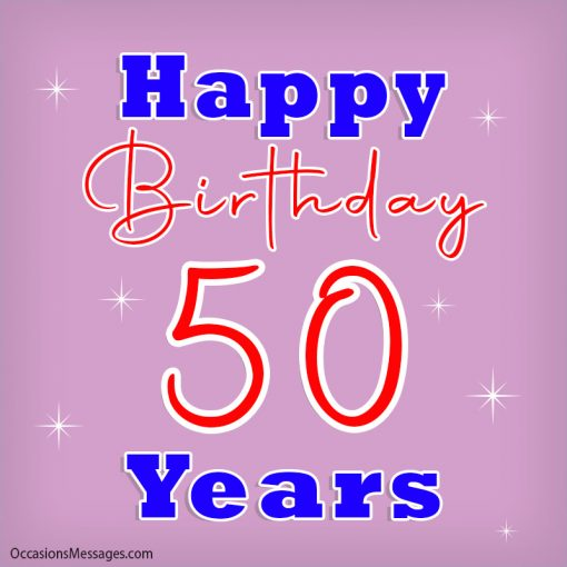 Happy birthday 50 Years with stars