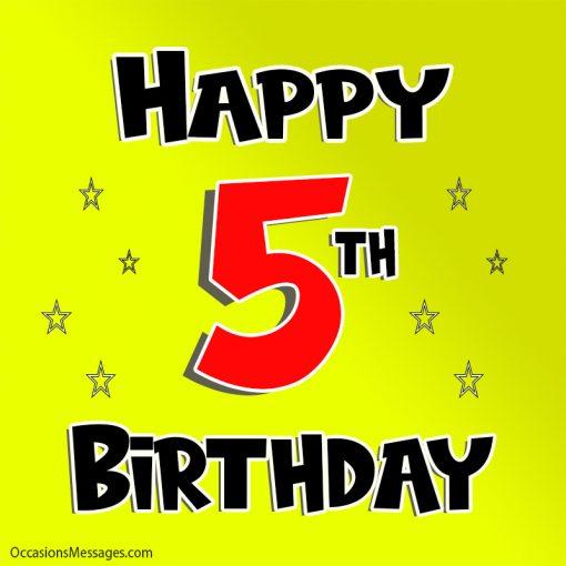 Happy 5th birthday