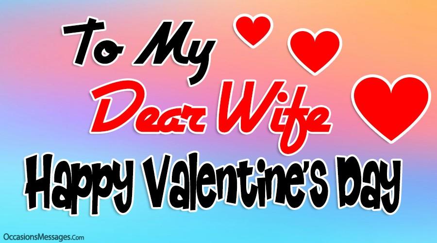 Happy Valentine's Day to my dear wife