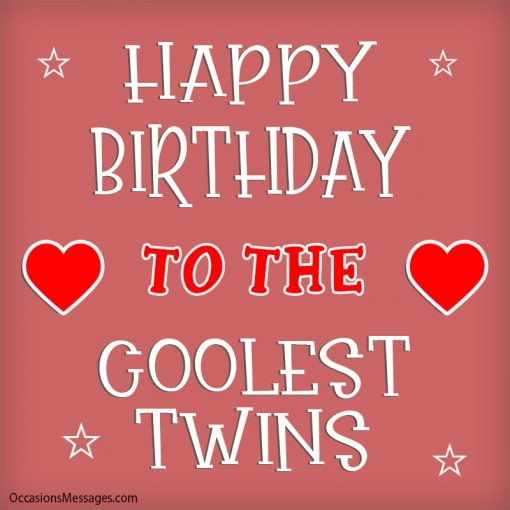 Happy birthday to the coolest twins