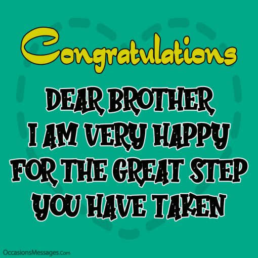 Dear brother I am very happy for the great step you have taken
