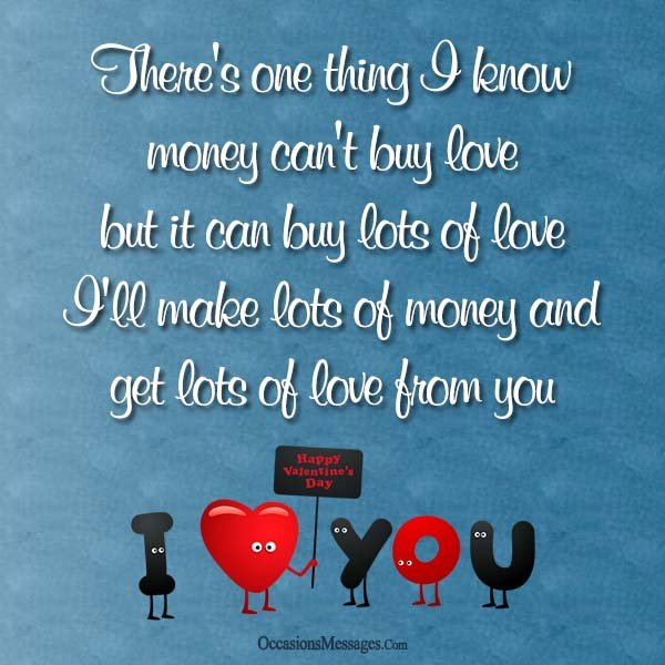 Money can not buy love but it can buy lots of love