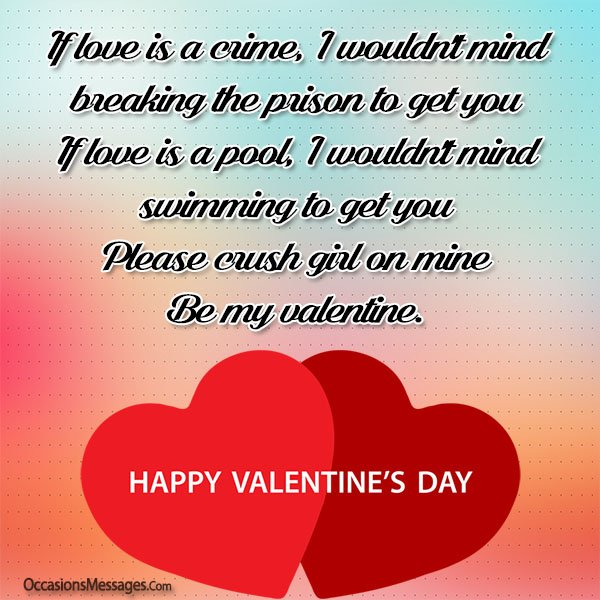 Valentine S Day Messages For Girl Crush Occasions Messages