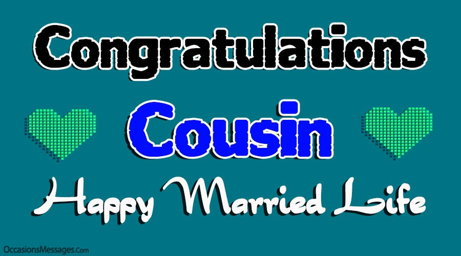 Congratulations Cousin. Happy married life.
