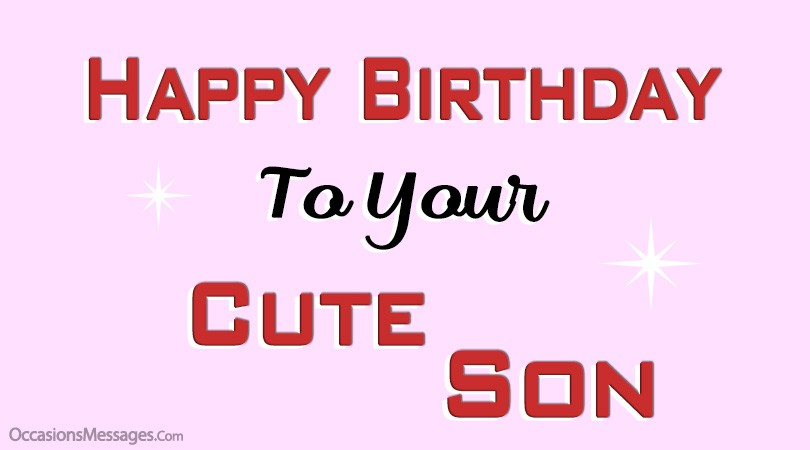 Happy Birthday Cute friend son