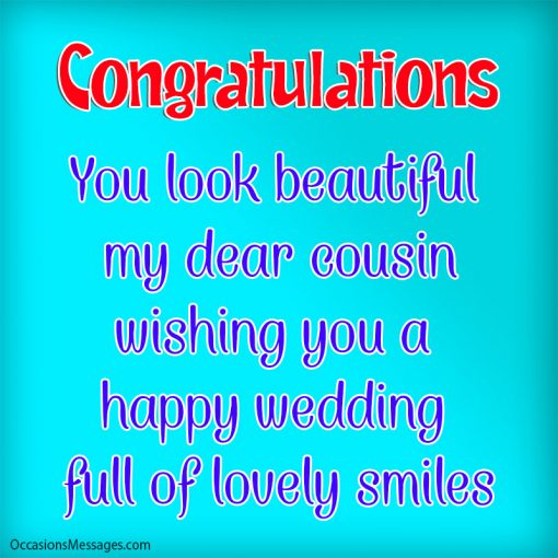 you look beautiful my dear cousin. wishing you a happy wedding full of lovely smiles.