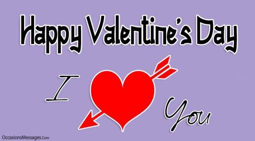 Happy Valentine's Day. I love you.