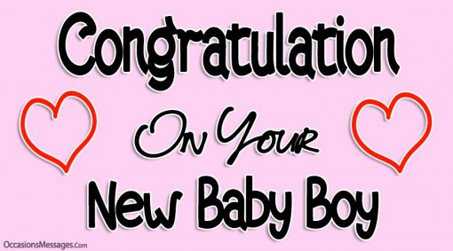 Congratulation on your New Baby Boy