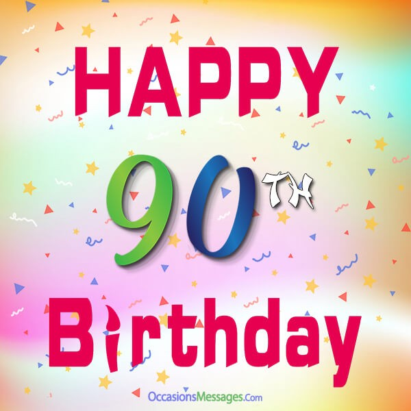 Happy 90th birthday cards