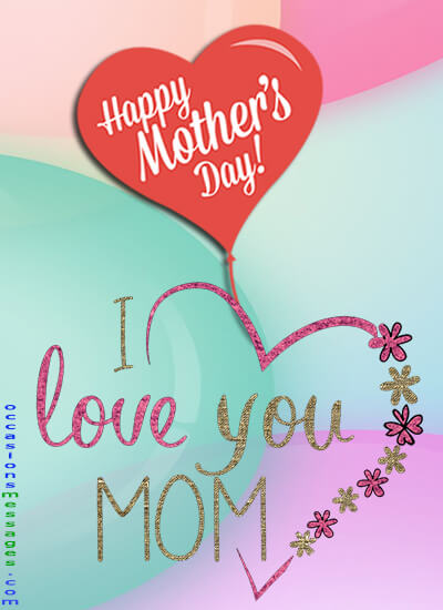 short mothers day card