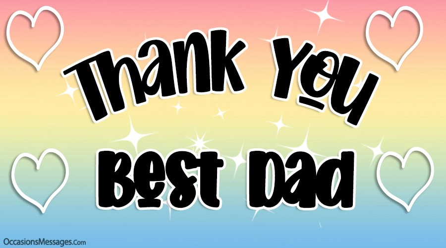 Thank you best dad